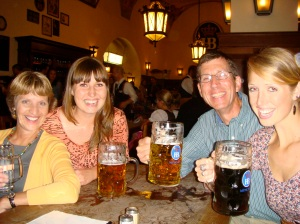 One of my favorite pictures of us! In Munich at the Hofbrauhaus... so many great memories of that night!
