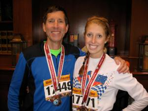 Did I mention I made my dad run the marathon with me? He was a rockstar... Meant so much more to me when we found each other at the finish!