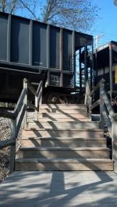 train stairs